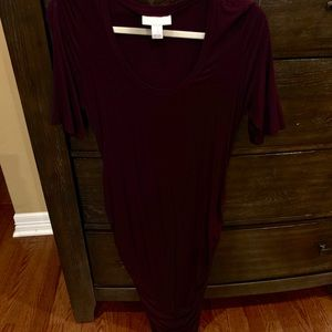 Motherhood Maternity jersey dress in dark purple
